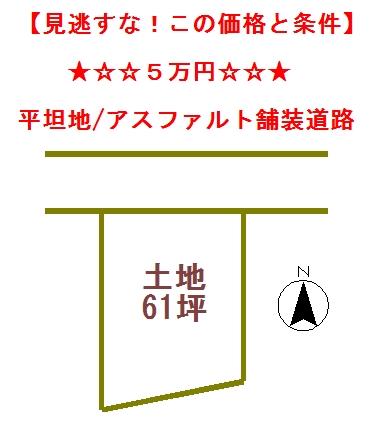 最安値/ 土地5万円(榛名)